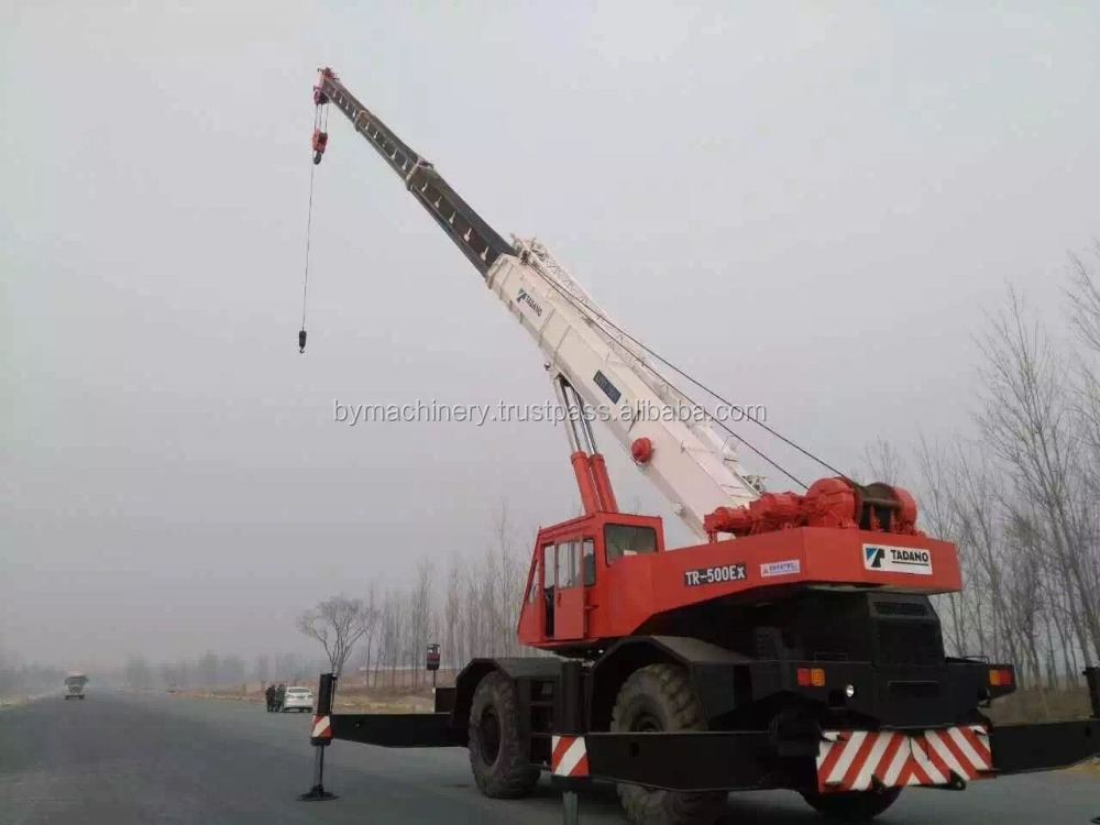 Performance used tadano rough terrain crane 50 ton