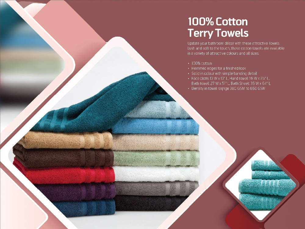 100 % Cotton Terry Towels