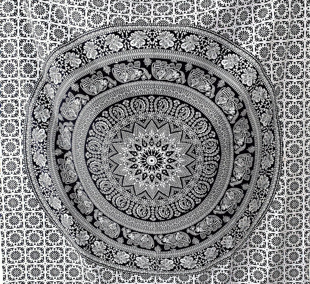 Elephant Mandala Unique Design Decor Ethnic Throw Tapestry 100% Cotton