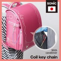 Cute and Convenient Plastic coil bungee cord key chain Coil key chain at reasonable prices , OEM available