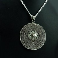 Classy Design !! Oxidized Plain Silver 925 Sterling Silver Pendant, Factory Direct Sale 925 Sterling Silver Jewelry,
