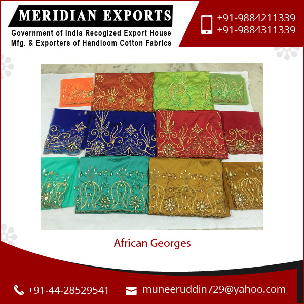 Economical Price African Embroidery Georges Fabric Available