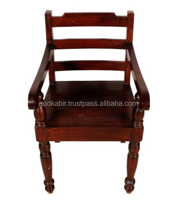 Antique And beautiful for home decor comfortable and For rest Adult choice Maroon Mango Wood Saffron Arm Chair/Cheap Rate chairs
