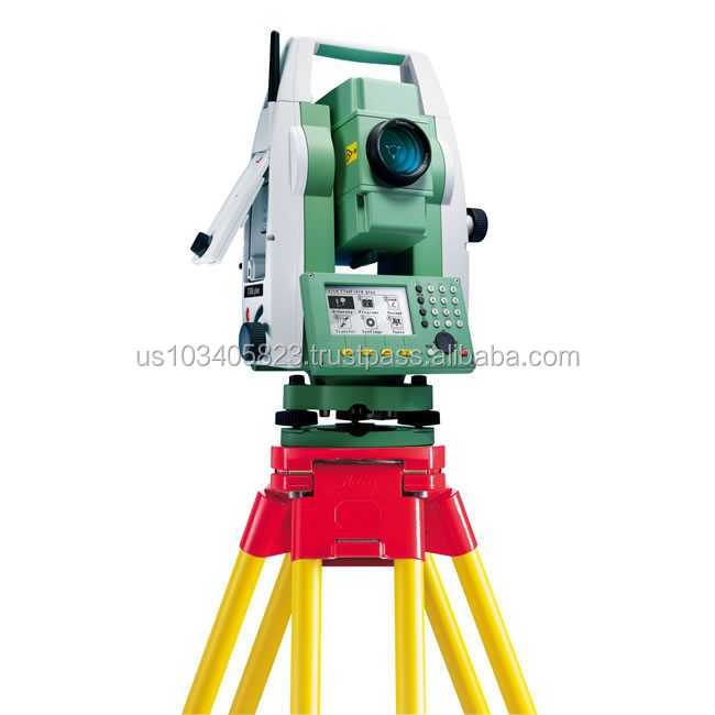 "Leica Flexline TS06 7"" R500 Total Station w/ Dual Display Bluetooth & USB Connection For Land Surveying"