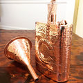 Premium Quality 100% pure copper Bottle | Hip Flask Pocket Bottle | Hammered Bottle