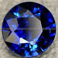 blue sapphire synthetic loose gem stone
