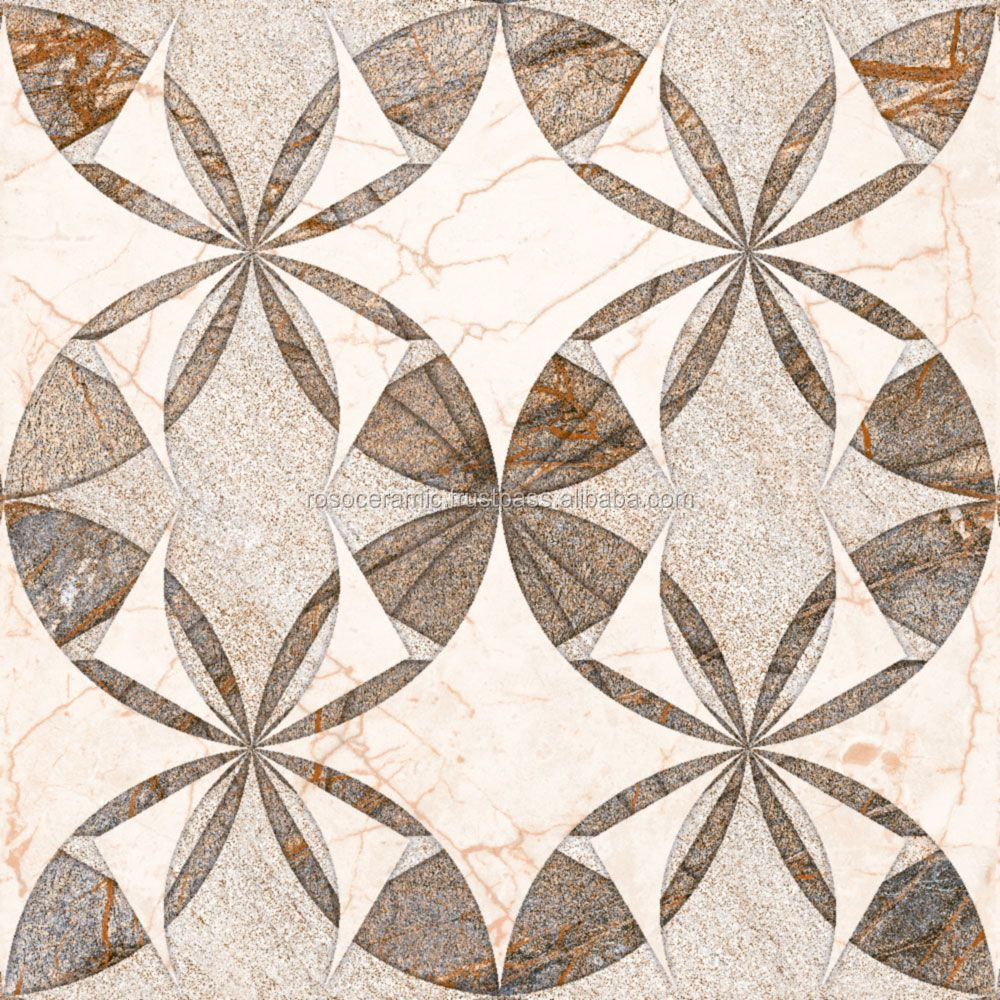 Waterjet marble tiles design floor pattern