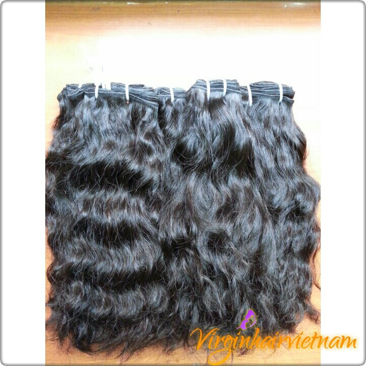 Factory Cheap Virgin Vietnam Cheap Curly Hair Extesnion, 24 Inches Vietnam Curly Human Hair