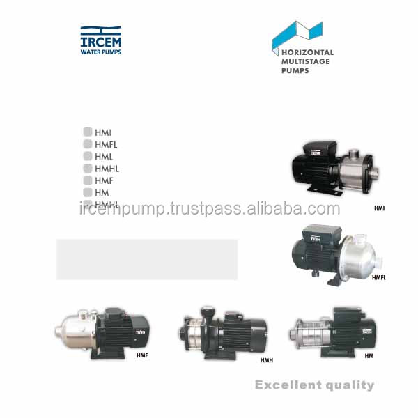 IRCEM HORIZONTAL MULTISTAGE PUMPS