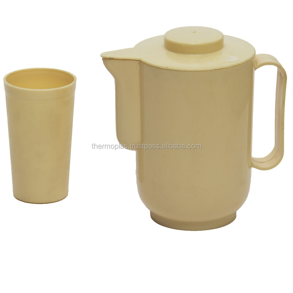 Plastic water Jug with Cups / Water Pitcher