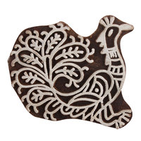 Handmade Wooden Printing Blocks for Canvas Printing Manufacturer Peacock Shape On Indianshelf Only WB-2527