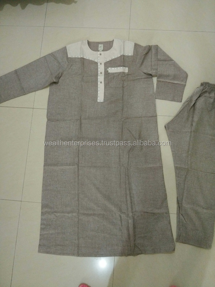Two piece men's muslim clothing/stylish two piece designer Muslim clothing's/Simple two piece clothing