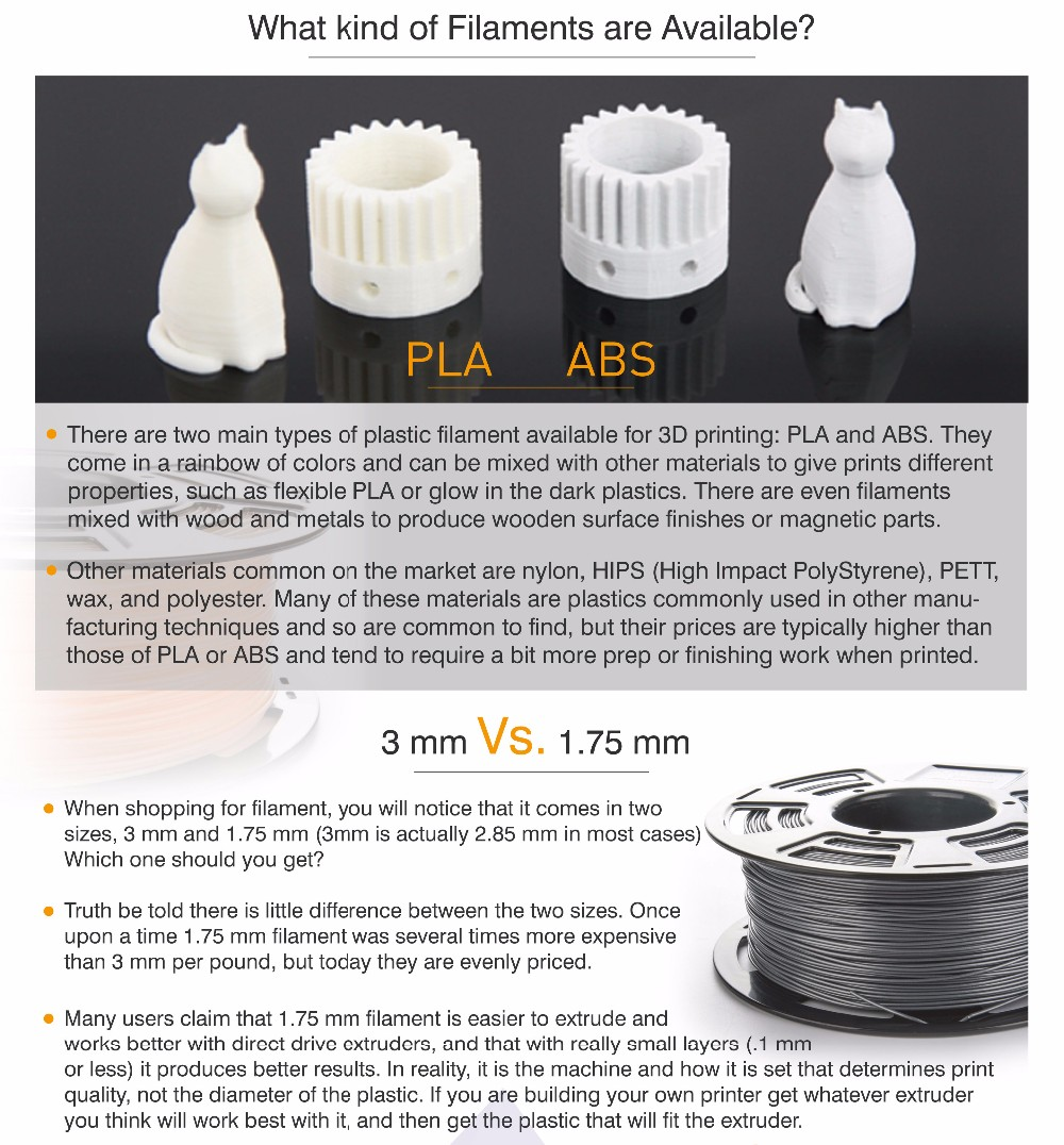3d printer filament 1.75mm pla plastic pellets