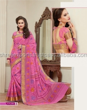 Submissive Pink Cotton Saree/indian bridal sarees online shopping