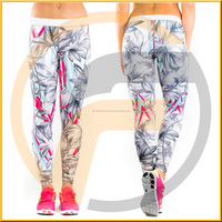 sublimation custom printed yoga pants women fitness sex girl