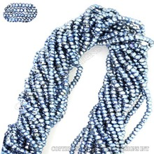 sky blue pyrite beads,wholesale 3-4mm rondelle faceted gemstone beads strands,faceted beads bulk