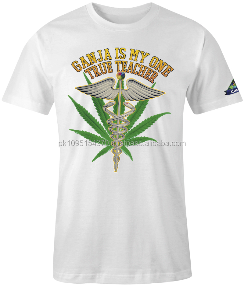 high quality best price summer various color short sleeve o neck weed t-shirts