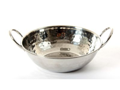 Hammered Stainless Steel 700 Ml Balti Dish