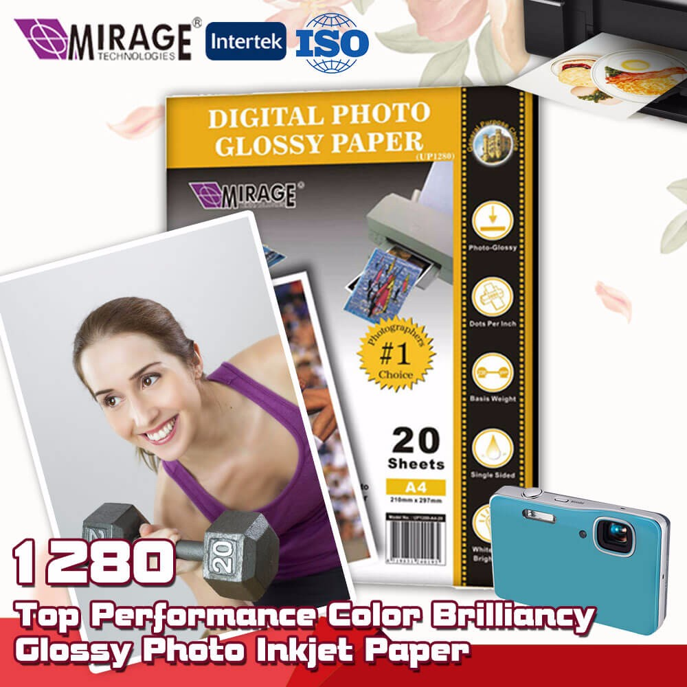 Top Color Inkjet RC Glossy Photo Paper A4