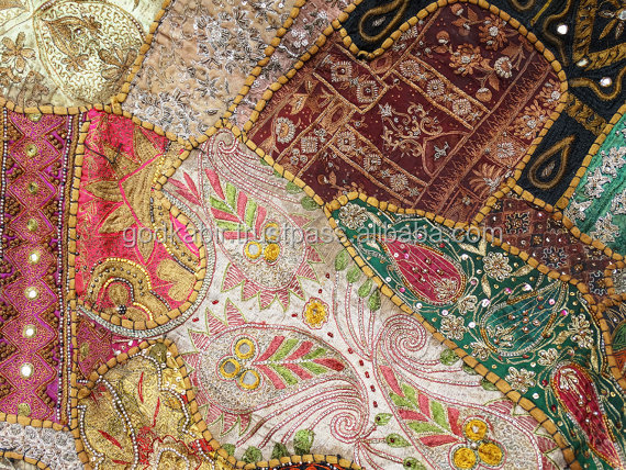 Latest And Royal Collection Antique And Decorative Famous Vintage Indian Textile Handmade Luxurious Patchwork 1940.