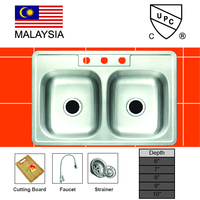 Stainless Steel Kitchen Sink ( Seamless ) Made in Malaysia