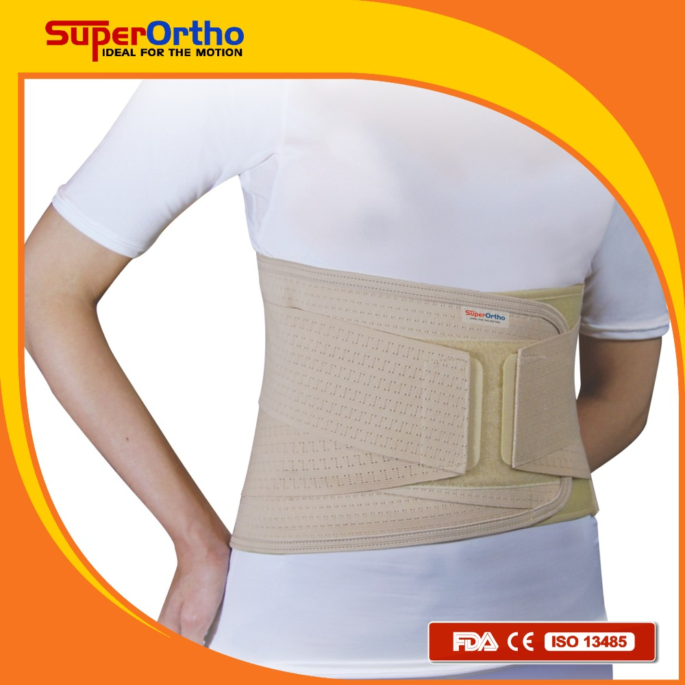 Medical Lumbar Support belt w/ 4 stays, for Back Pain Relief