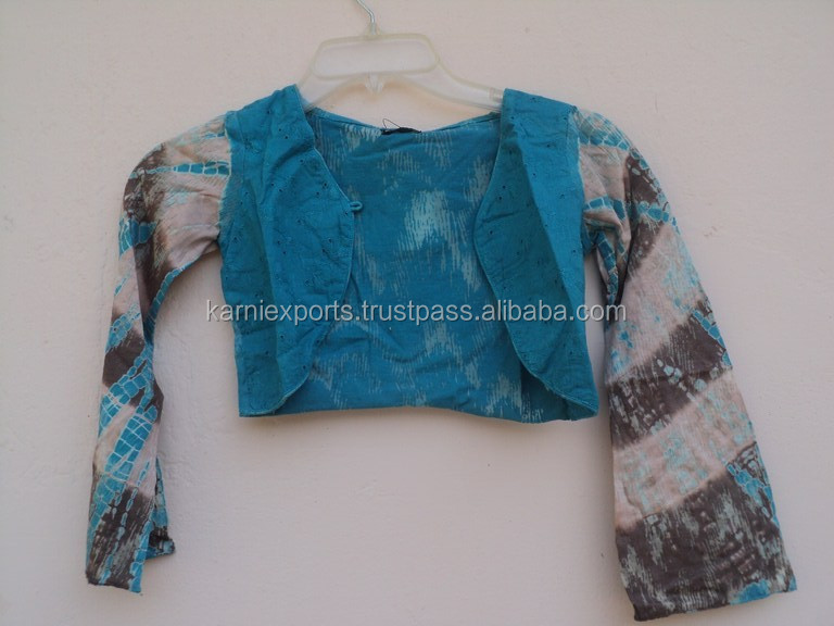 Tie and dye cotton jacket for girls / winter wear & girls best design pattern printed girls jackets