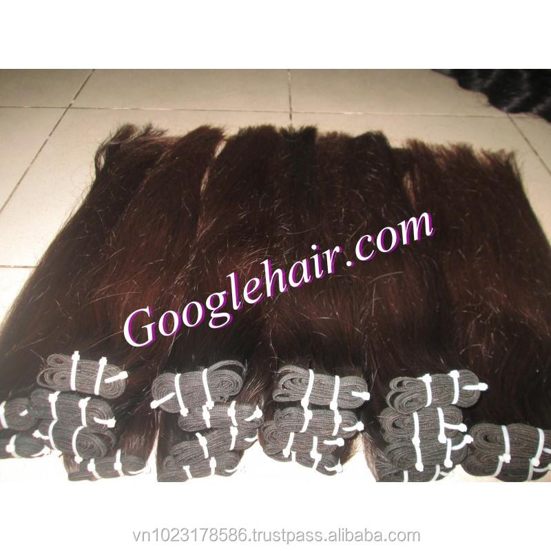 Vietnam Virgin Human Hair Extensions Light Brown Straight in Weft Beautiful Shopping Online Good Price Only in Vietnam