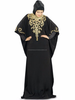 Beautiful New Nayyab Hand Embroidered Black Kaftan Islamic Women's Dress