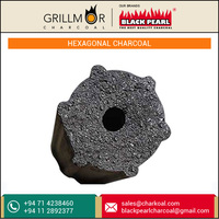 Hot Selling Hexagonal Shape Coconut Charcoal for BBQ Grill