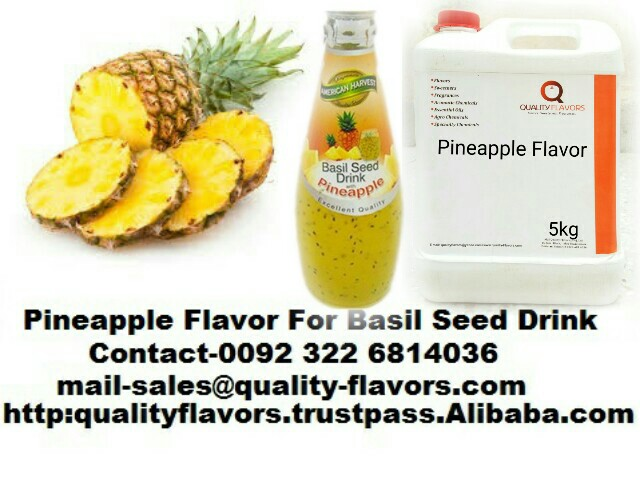Pineapple Flavor For Basil Seed Drink