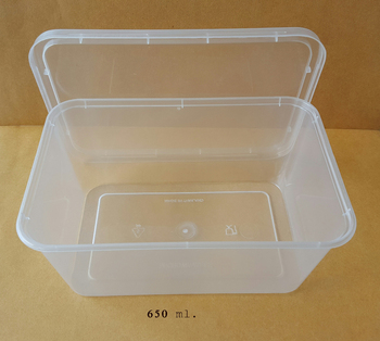 PP Plastic Disposable Food Grade Food Container VPF 650