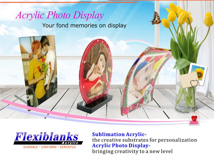 Acrylic Photo Frame Display,Photo panel for Sublimation