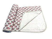 Handblock Printed Baby Kantha quilt cover handmade cotton