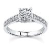 Designer 0.80Ct Real Natural Round Cut Diamond Engagement Ring 14k White Gold