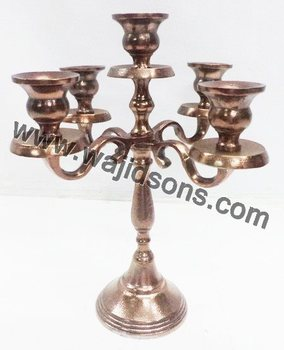 Antique Floor Standing Gold Plated Candelabras And Centerpieces Manufactured By Top Brass company