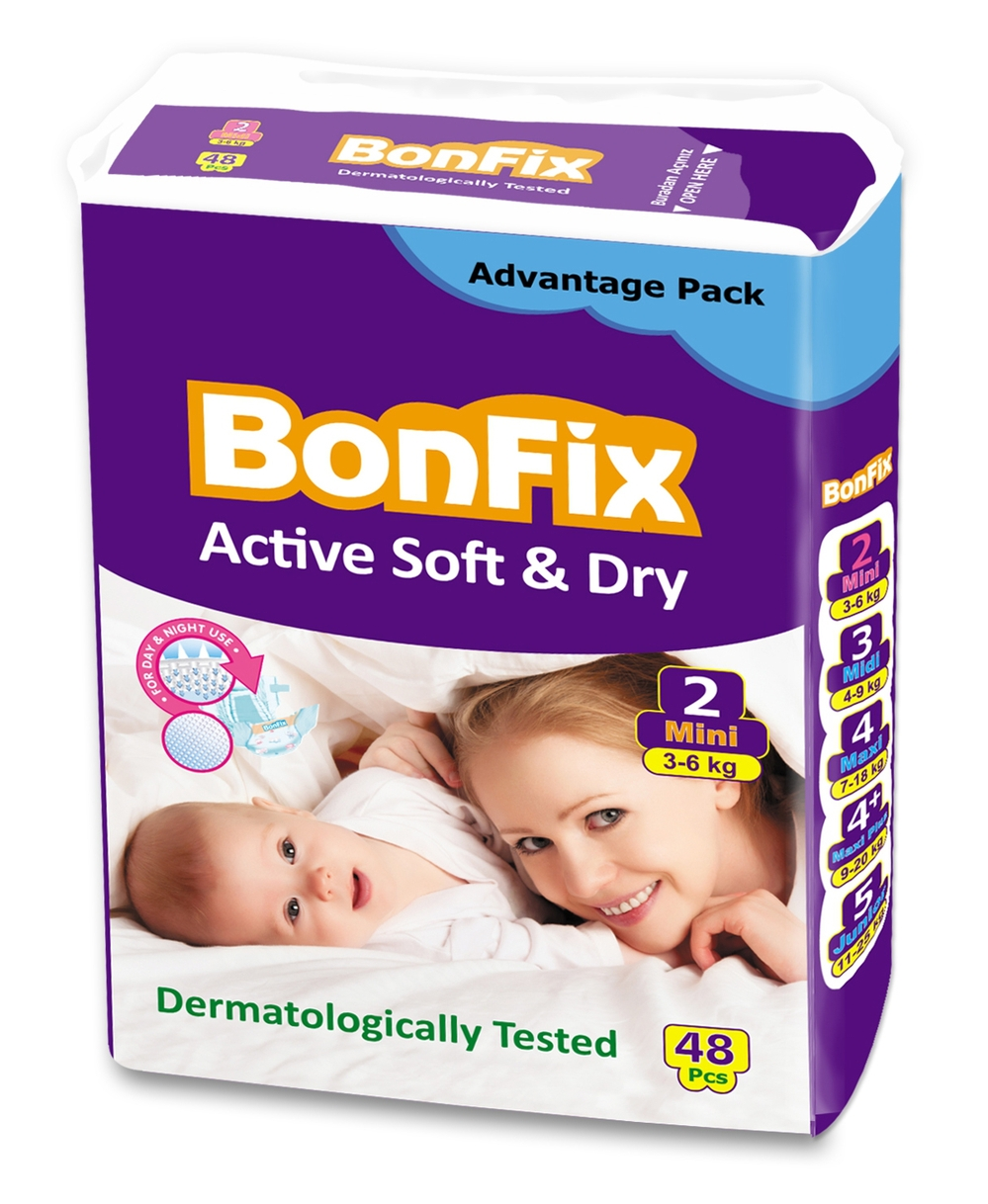 Bonfix disposable Cotton Baby Diapers Turkey 4-9kg
