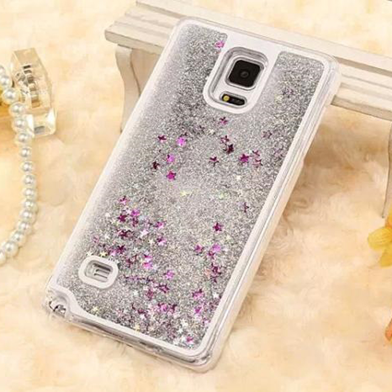 Fluid Glitter Crystal Clear Star Case for Samsung Note4