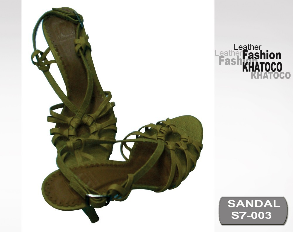 KHATOCO Ostrich Leather Sandals 09-S7-003