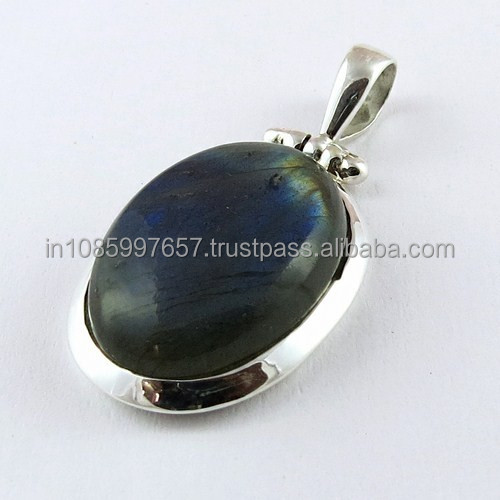 Natural !! Labradorite 925 Sterling Silver Pendant, Handmade Silver Jewelry, Exporter and Wholeseller
