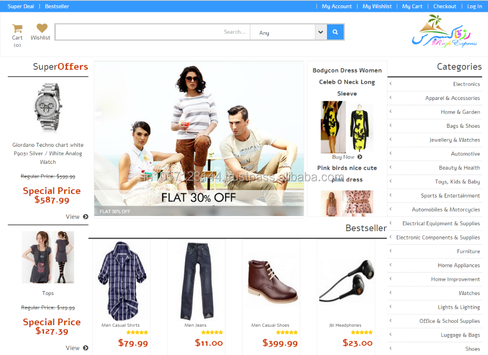 Online Ecommerce Website Design and Development, Outsource Website Design