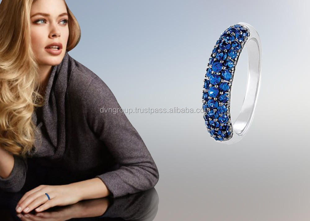 Silver Plated color CZ studded Womens Elegant Rings