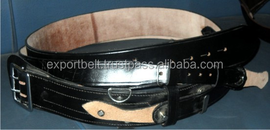 Military Army Air Force Navy Cadets Leather Sam Browne Belt