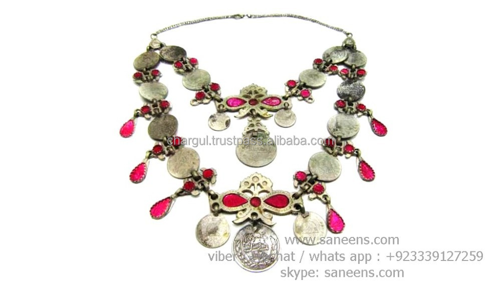 kuchi bridal costuming necklaces belly stage dance performance chokers gypsy fusion jewelry