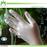 plastic carton box packing vinyl glove/ health care resistant gloves /safety hand gloves
