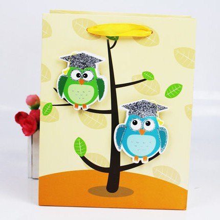 hot sales china manufacturer of handmade 3D paper gift bag
