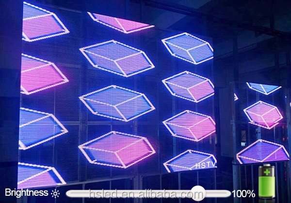 PH6.25-6.25 high brightness glass transparent LED display screen/new products custom led display/full color led display