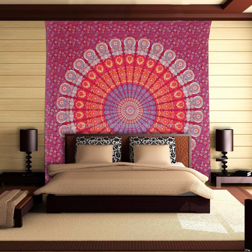 Indian Mandala Tapestry Wall Hanging Home Decor Tapestry Bedspread Beach Throw Picnic Sheet Hippie Boho Bohemian Tapestry.
