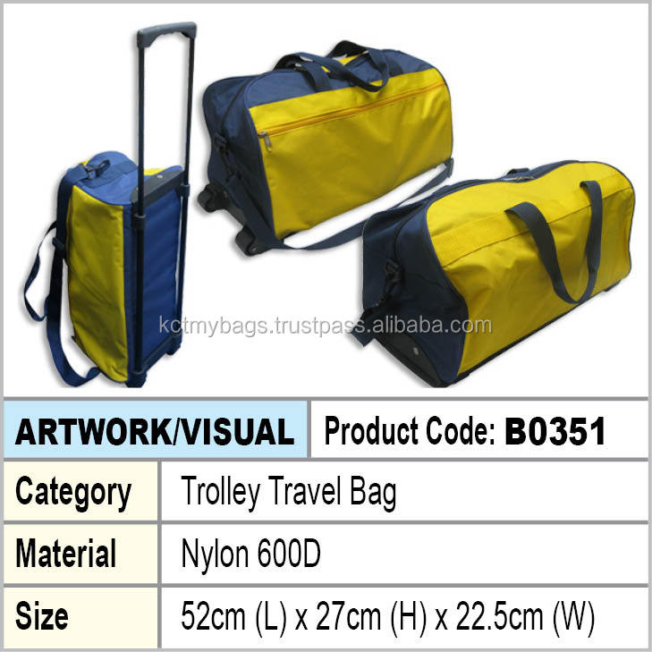 Nylon trolley travel bag