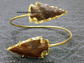 Fancy Jasper Stone Arrowhead Bangle : Wholesaler Manufacturer